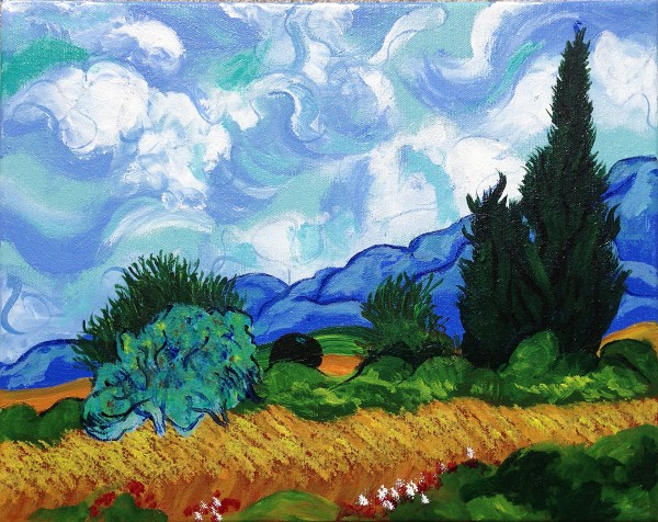 Wheat Field & Cypresses - After van Gogh